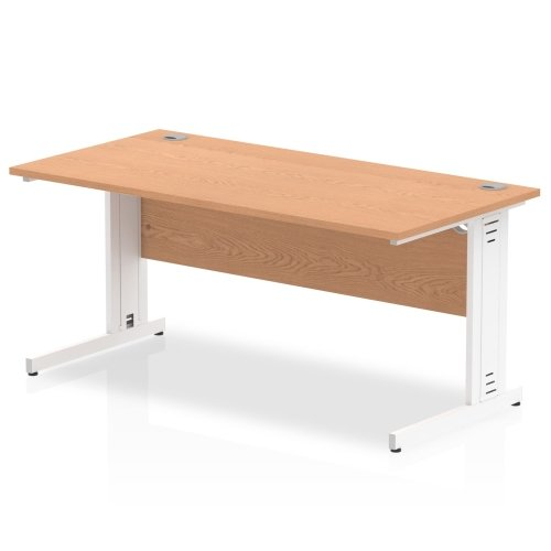 Gentoo Rectangular Desk with Cable Managed Legs - (w) 1600mm x (d) 800mm