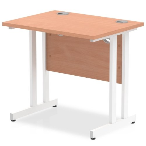 Gentoo Rectangular Desk with Twin Cantilever Legs - (w) 800mm x (d) 600mm