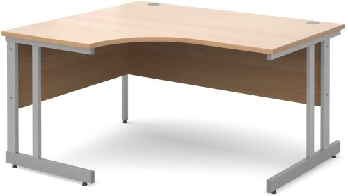 Dams Bulk Corner Desk with Twin Cantilever Legs - (w) 1400mm x (d) 1200mm