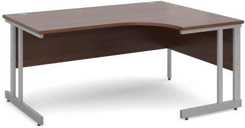 Dams Corner Desk with Twin Cantilever Legs - (w) 1600mm x (d) 1200mm