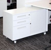 Metalicon Spectrum Mobile Caddy Unit 2 Personal Drawers 1 File Drawer Shelf Tambour Cupboard (LH)