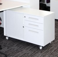 Metalicon Spectrum Mobile Caddy Unit 2 Personal Drawers 1 File Drawer Shelf Tambour Cupboard (RH)