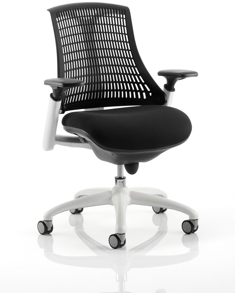 76bb9c63a16 Gentoo Flex White Frame Chair without Headrest - Office Furniture Direct