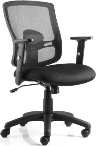 Gentoo Portland Black Mesh Back Task Chair with Arms