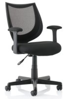 Gentoo Camden Mesh Chair With Fixed Arms