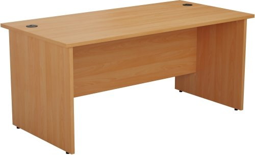 TC Bulk One Rectangular Desk with Panel End Legs - (w) 1600mm x (d) 800mm