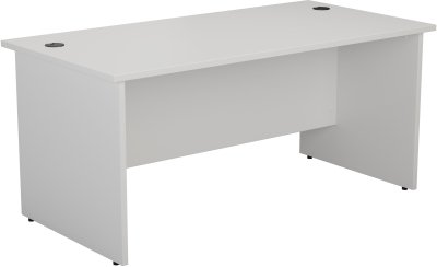 TC Office One Rectangular Desk with Panel End Legs - (w) 1600mm x (d) 800mm