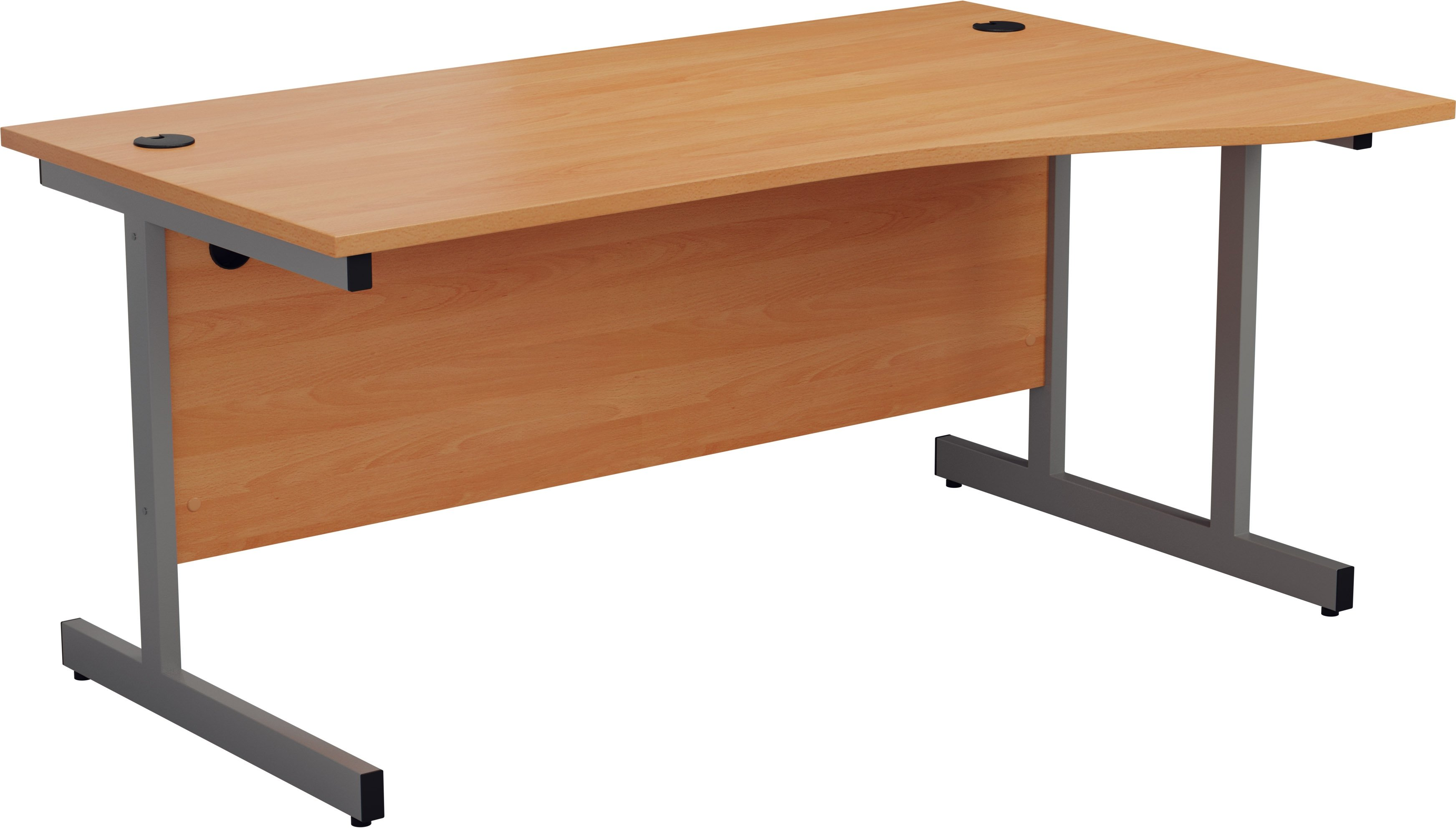 Tc Office Single Upright Wave Desk With Cantilever Legs W 1600mm X D 800mm 1000mm Office Furniture Direct