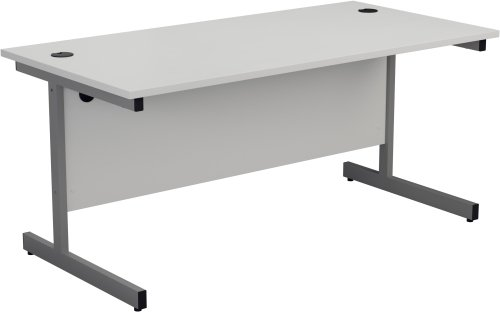 TC Office Single Upright Rectangular Desk - (w) 1800mm x (d) 800mm