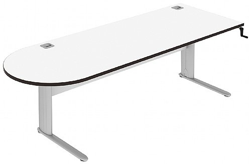Elite Optima Plus D Ended Height Adjustable Desk MFC - W2200 x D800 x H650-850mm