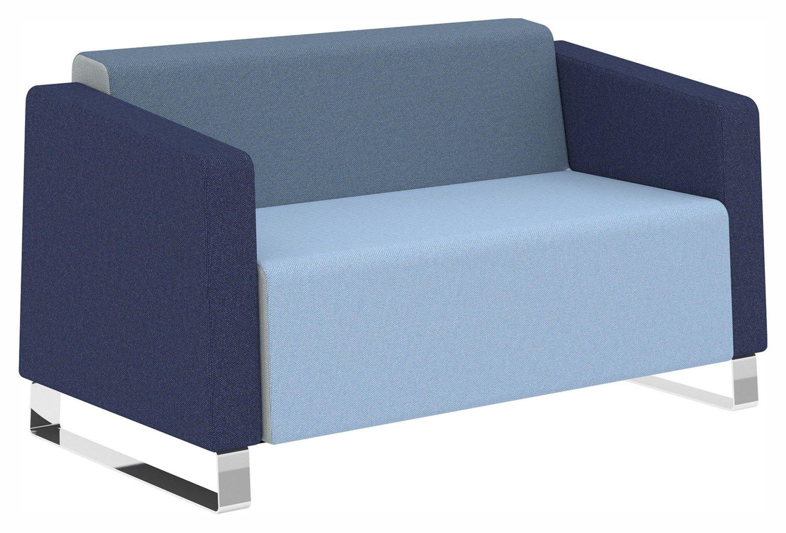 elite ella two seater full back sofa chrome sled leg. Black Bedroom Furniture Sets. Home Design Ideas