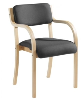 Dams Bulk Prague Wood Frame Conference Chair With Arms