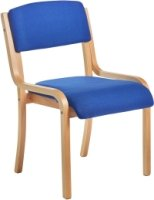 Dams Bulk Prague Wood Frame Conference Chair Without Arms