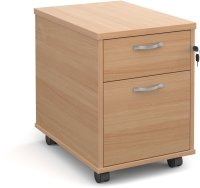 Dams Bulk 2 Drawer Mobile Pedestal - (w) 426mm x (d) 600mm