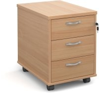 Dams Bulk 3 Drawer Mobile Pedestal - (w) 426mm x (d) 600mm