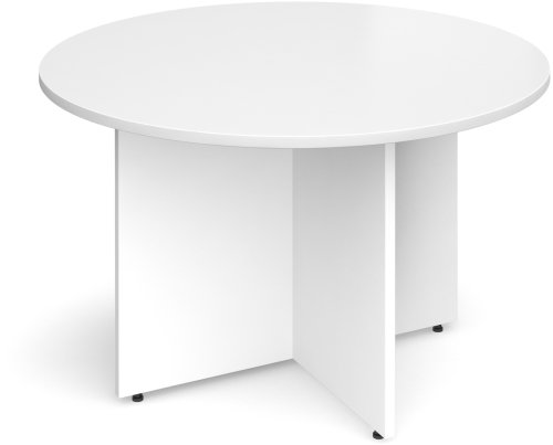 Dams Arrow Head Leg Circular Meeting Table 1200mm