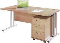 Gentoo Desk & 3 Drawer Pedestal