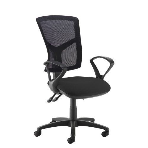 Dams Senza Mesh High Back Operator Chair with Fixed Arms