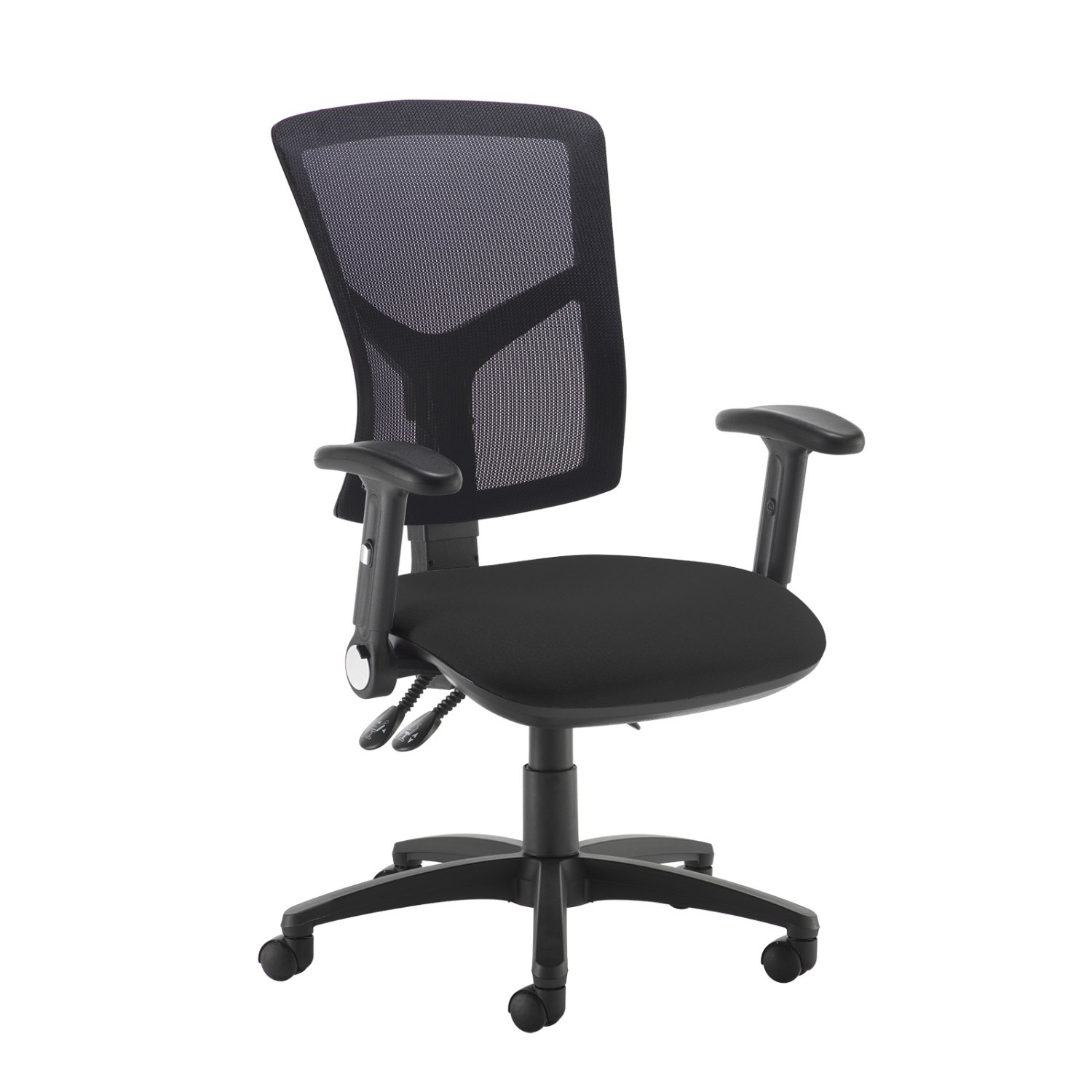 Senza Mesh Operator Chair Folding Arms Office Furniture Direct