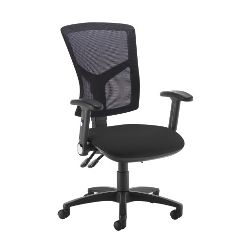 Dams Senza Mesh High Back Operator Chair with Folding Arms