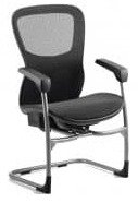 Gentoo Stealth Shadow II Visitor Chair Mesh Seat and Back Chair with Arms