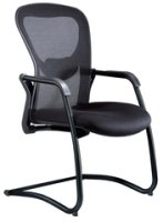 Task Strata Mesh Back Cantilever Visitor Chair Black