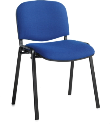 Dams Bulk Taurus Black Frame Stacking Chairs Without Arms