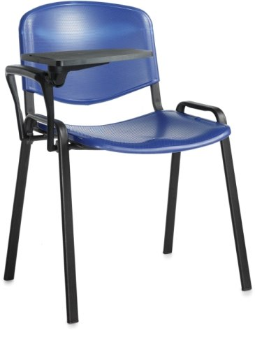 Dams Taurus Plastic Stacking Chair with Writing Tablet (Price Per Box of 4)