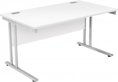 TC Office Start Rectangular Desk with Twin Cantilever Legs - (w) 1400mm x (d) 800mm