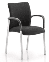 Gentoo Academy Black Fabric Back Visitor Chair with Arms