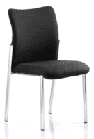 Gentoo Academy Black Fabric Back Visitor Chair without Arms