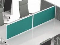 Troon Desk Mounted Screen - Straight Top