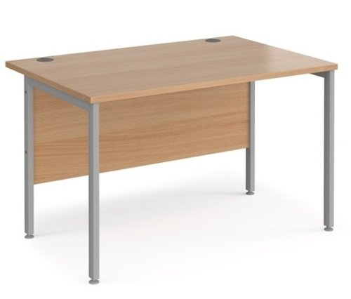 Dams Maestro 25 H Frame Rectangular Desk with Back Modesty Panel - (w) 1200mm x (d) 800mm