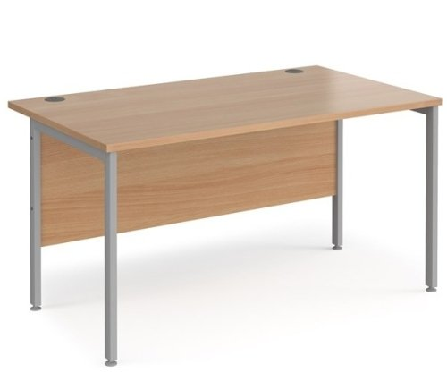 Dams Maestro 25 H Frame Rectangular Desk with Back Modesty Panel - (w) 1400mm x (d) 800mm