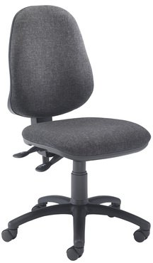 Calypso 2 High Back Operator Chair With Fixed Arms - Chrome Base