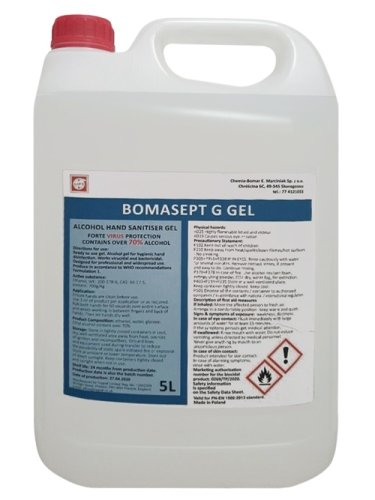 Bomasept G Gel 70% Alcohol Sanitiser