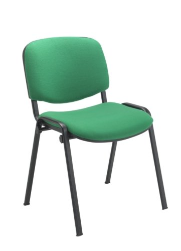 Club Fabric Black Frame Chair - Without Arms