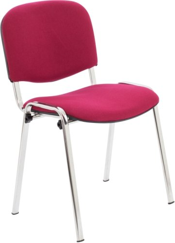 Club Fabric Chrome Frame Chair With Moulded Arms