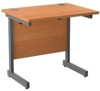 TC Office Single Upright Rectangular Desk - 600mm Depth