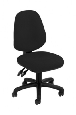 Concept Deluxe Operator Chair With 1D Height Adjustable Arms - Chrome Base