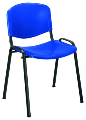 Club Canteen Black Frame Chair Without Arms