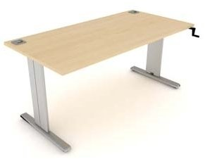 Elite Optima Plus Rectangular Height Adjustable Desk MFC - W1200 x D800 x H650-850mm
