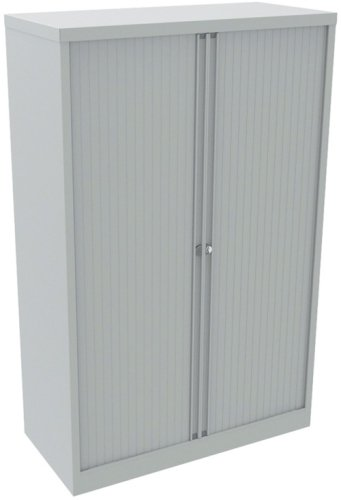 Bisley Essentials Tambour Medium Cupboard Goose Grey