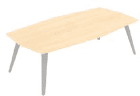 Elite Reflex Octagonal Conference Table - 2800 x 1200 x 740mm