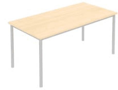 Elite Rectangular Training Table With Circular Legs Mfc