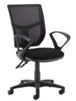 Dams Jota Mesh Back Fixed Arms Operator Chair