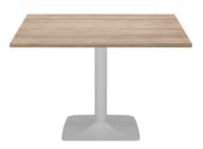 Elite Square Pyramid Base Meeting Table MFC Finish - 600 x 600 x 725mm