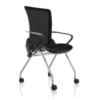 Comfort Lii Visitor Chair Black Frame Polished Chrome Base