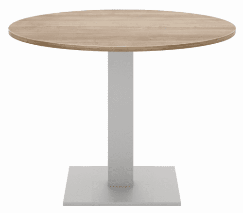 Elite Circular Meeting Table MFC Finish Square Base - 1200mm