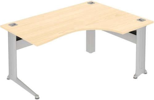 Elite Kassini Crescent Workstation - (w) 1800mm x (d) 1200mm MFC Finish